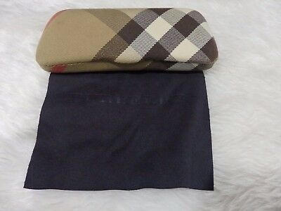 Used - Burberry patterned glasses case & cloth design 1- proceeds to charity