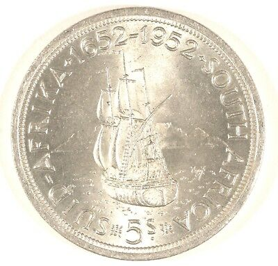 South Africa 5 Shillings, 1952, 300th Anniversary - Founding of Capetown