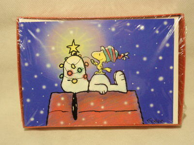 Ambassador Snoopy Woodstock Christmas Holiday Cards Box SEALED