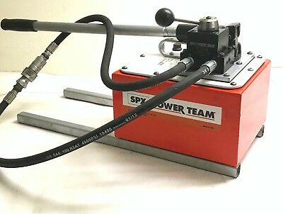 SPX Power Team P460 D 10,000PSI Hydraulic Pump Double Act. 2 Speed No.9500 Valve