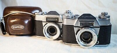 VOIGTLANDER BESSAMATIC 35MM SLR Cameras ~ Lot of 2