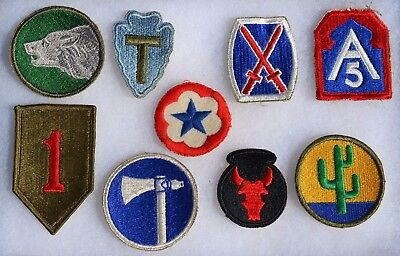 Lot #5 Us Wwii Patches U.s. Uniform Insignia American Military Ww2 Cloth Patch