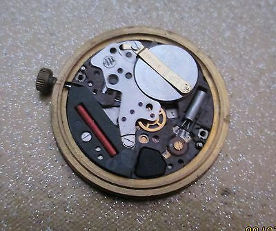 ESA 947.111 Vintage  watch movement  tissoot dial with hands  not working swiss