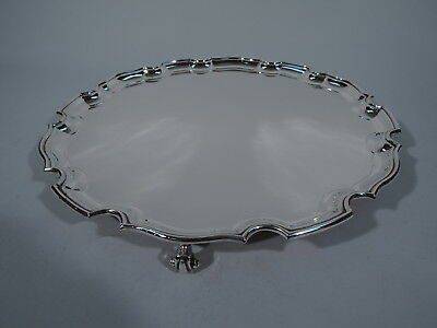 Georgian Salver - Traditional Tray - English Sterling  - Chatterley - 1959