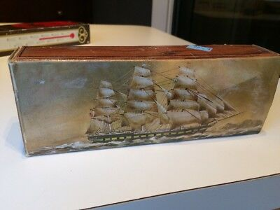VTG Avon Captains Pride Windjammer boat After Shave Decanter Box ONLY