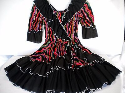 """""""Call It Fancy"""" Square Dancing Dress Size Small w/20"""" Skirt Made in USA"""