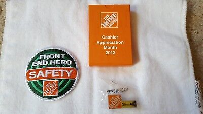 HOME DEPOT memorabilia pacth ,pin and 2012 deck of cards