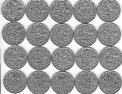 OLD LUCKY SIXPENCE  6D BIRTHDAY 1947 to 1967 99p Each