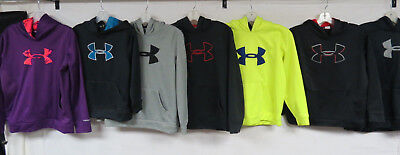 Lot Of 7 Youth Under Armour Hooded Sweatshirts Polyester Pullovers Hoodies