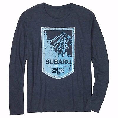 Subaru Long Sleeve Mountain Tee Shirt T shirt Genuine Outback Forester Wrx Sti +