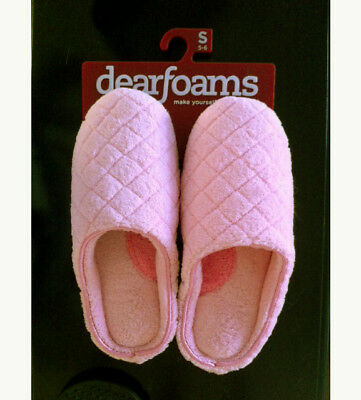 Dearfoams Womens Slip On Slippers Orchid Pink Sz S (5-6 ) NEW NWT