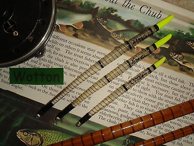 TRADITIONAL HANDMADE SWAN QUILL CHUBBER FLOAT SET Yellow