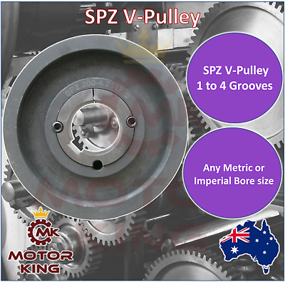 SPZ V Belt Pulley with taper lock to suit 56mm to 224mm Diameter