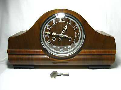 Vintage ENFIELD Chiming Mantle Clock + key works made in England