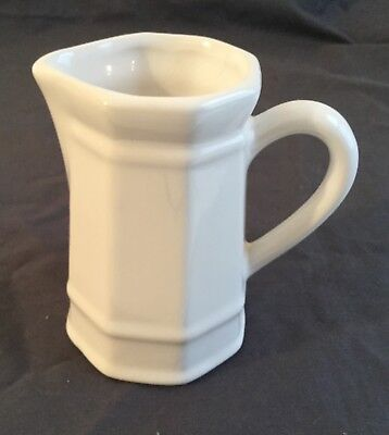 Vintage White Ironstone Pitcher Creamer