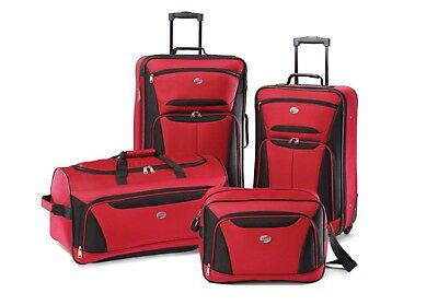 American Tourister Fieldbrook II Luggage Sets - Red/Black