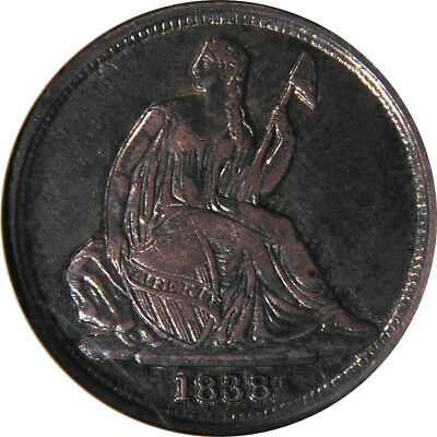1838-O Liberty Seated Dime PCGS AU50 NO STARS