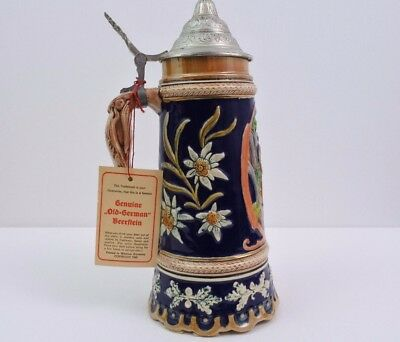 Vintage MUSICAL (Made in the Hills of the Westerwald) West Germany Beer Stein