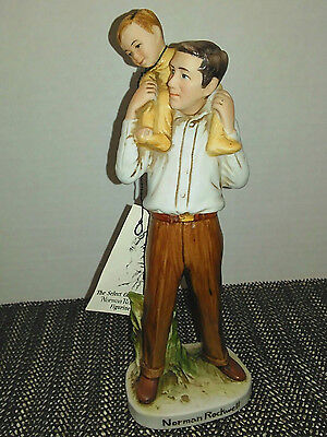 Norman Rockwell Dad Giving His Son A Piggy Back Ride Select Collection Ltd 1979