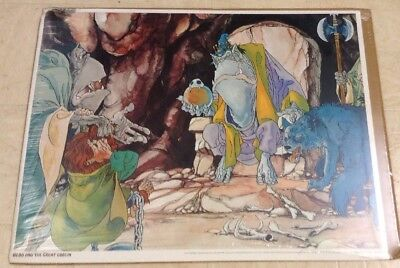 Vintage 1977 The Hobbit Movie Poster~Bilbo And The Great Goblin~Sealed~Estate