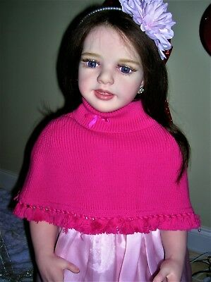Gymboree Hot Pink Knitted Poncho❤Size 12-18M❤100% Cotton❤Warm & Snugly❤Baby Girl