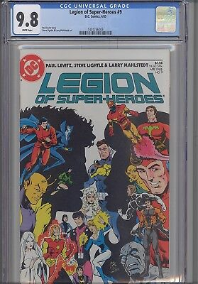 Legion of Super Heroes #9  CGC 9.8 1985 DC Comic with a  New Frame