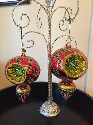 Two rare, large reflection Christopher Radko Ornaments.