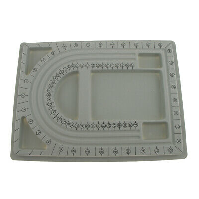Plastic Flocked Beading Bead Board Bracelet Design Tray Jewellery Making DIY