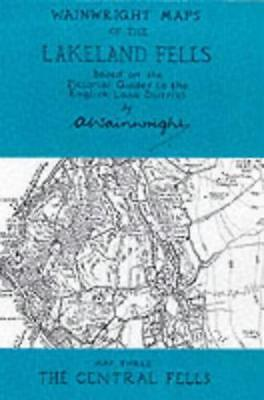 Wainwright Maps of the Lakeland Fells: The Central Fells Map 3 by Alfred Wainwri