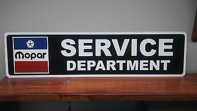 "Mopar Service Department Aluminum Sign  6"" x 24"""