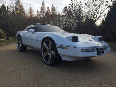 1984 Chevrolet Corvette Base Hatchback 2-Door 24 wheels free shipping clean carfax custom interior huge sound donk classic
