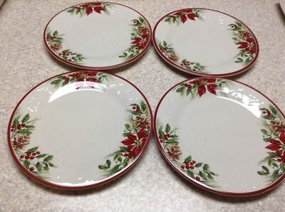 Longaberger Nature's Garland Dinner Plates New No Box (Four Plates)