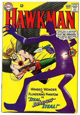 Hawkman #5 VF/NM 9.0 ow/white pages  DC  1965  No Reserve
