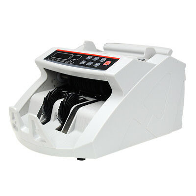 New Bill Money Counter Worldwide Currency Cash Counting w/Machine UV Counterfeit