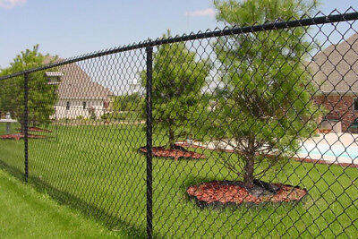 Black PVC Coated Chain-Link Fence/Cyclone Fence 1.5m*10m*60mm*3.5mm $82.40/roll