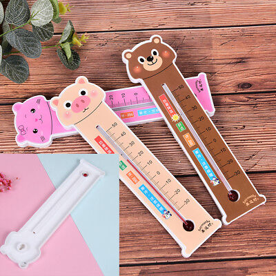 1X Cartoon thermometer wall hanging home temperature measure wall mounted FT