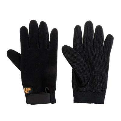 Thickened Antiskid Equestrian Gloves for Horse Riding Outdoor Sports - Black