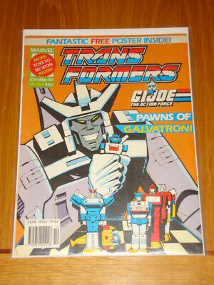 Transformers British Weekly #260 Marvel Free Poster