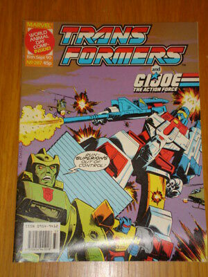 Transformers British Weekly #287 Marvel Uk Comic 1990