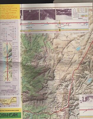 ASIAN HIGHWAY ROUTE MAP UN IRAN AFGHANISTAN Rare E1.443