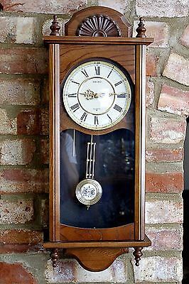 Vintage Japanese 'Seiko' Quartz Wall Clock with Chimes
