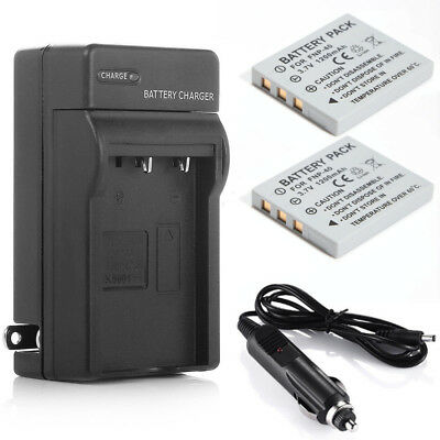 2xBattery+Charger for PENTAX DL-i8 D-L18 NP-40 FNP40 Optio A10 L20 FinePix F650