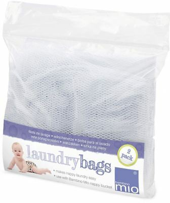 Bambino Mio NAPPY LAUNDRY BAGS TWO PACK Baby Reusable Diaper Storage BN
