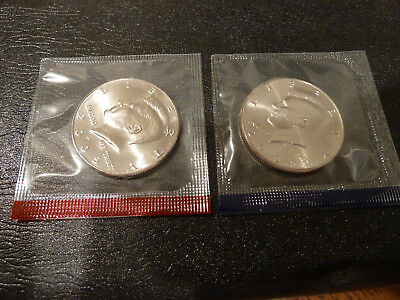 2005 P & D Kennedy Half Dollar Uncirculated Coins from US Mint Set