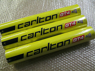 3 x 12 CARLTON GT4 FEATHER SHUTTLECOCKS Medium 3 Dozen / 3 Tubes / 36 Shuttles