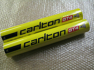 2 x CARLTON GT4 FEATHER SHUTTLECOCKS Speed 78 Tube of 12 / 2 x dozen shuttles