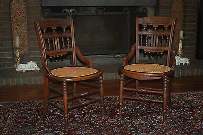 Pair Restored Antique Victorian Side Chairs
