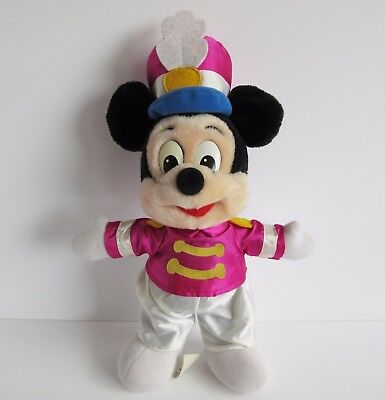 Vintage 1991 Walt Disney World Mickey Mouse soft toy plush Marching Band 13""