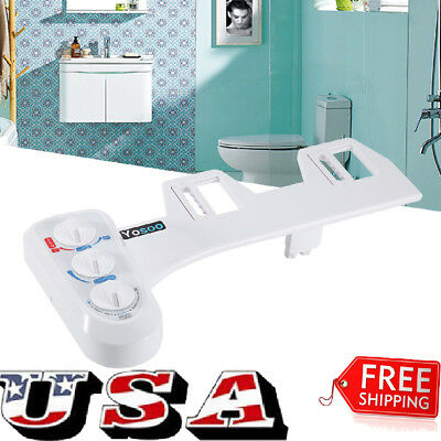 Hot/Cold Toilet Seat Attachment Fresh Water Spray Non Electric Mechanical Bidet