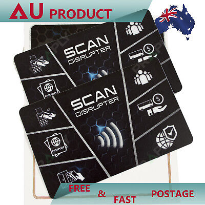 2x Scan Protector RFID Blocking Card, Debit Credit Card Guard, Wallet Protecting